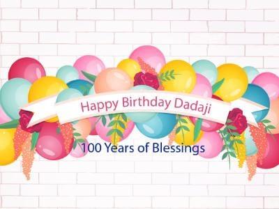 100 years - Happy birthday