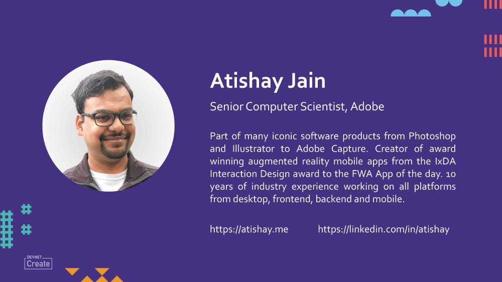 Atishay Jain at Cisco DevNet Create 2019